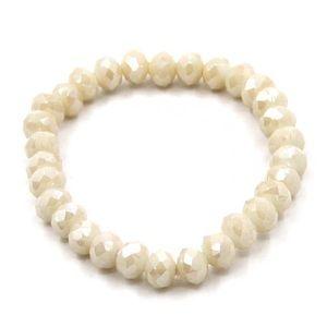 NWT • cream stretchy bracelet